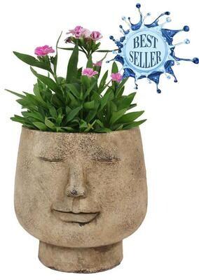 Ceramic Smile Face Planter