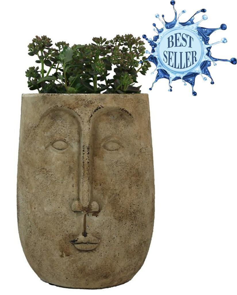 Ceramic Long Face Planter Pot