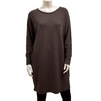 Gilmour Bamboo French Terry Raglan Dress Slate