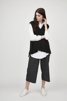Pistache Knit Vest Black