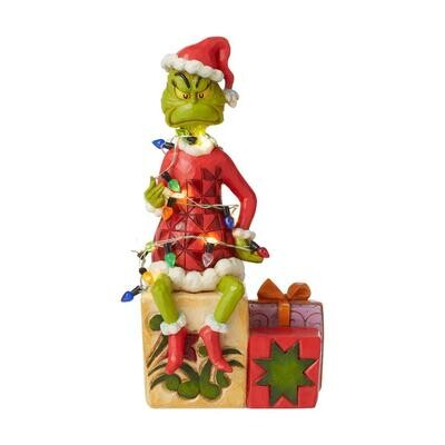 Jim Shore Grinch On Present Wrapped