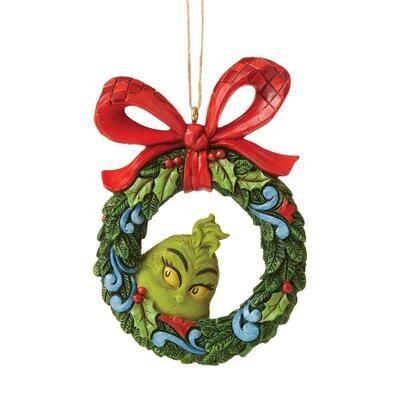 The Grinch Peeking Through Ornament
