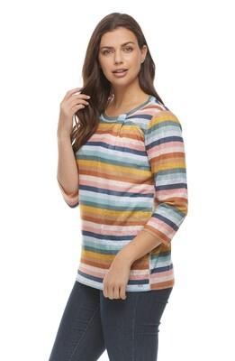 FDJ Neck Twist Knit Top Palette
