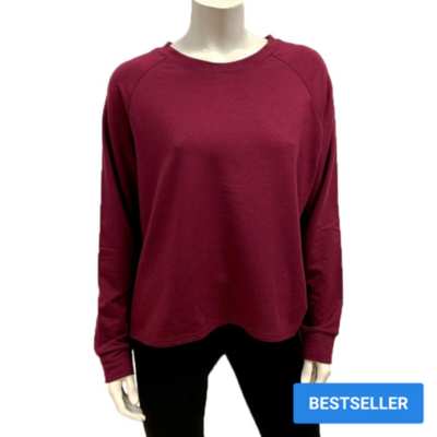 Gilmour Bamboo French Terry Cropped Merlot