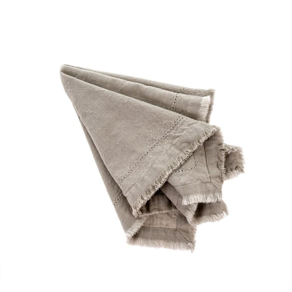 Indaba Frayed Edge Napkin Set