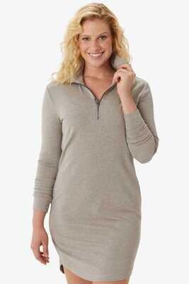 Lole Villeray Long Sleeve Dress Oyster Heather