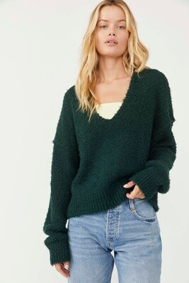 Free People Theo V Neck Spruce
