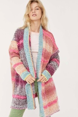 Free People Daydreamer Cardi Orchid Cloud Combo