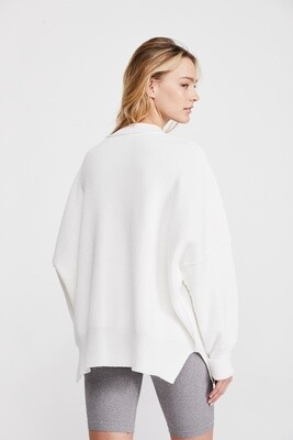 Free People Easy Street Tunic Painted White