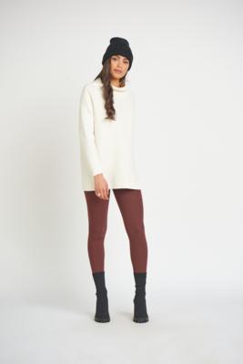 Dex Slouchy Tunic Sweater Cream