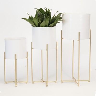 Metal Planters Gold