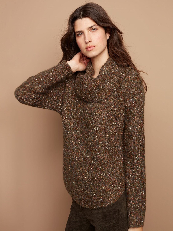 Charlie B Round Hem Sweater Olive