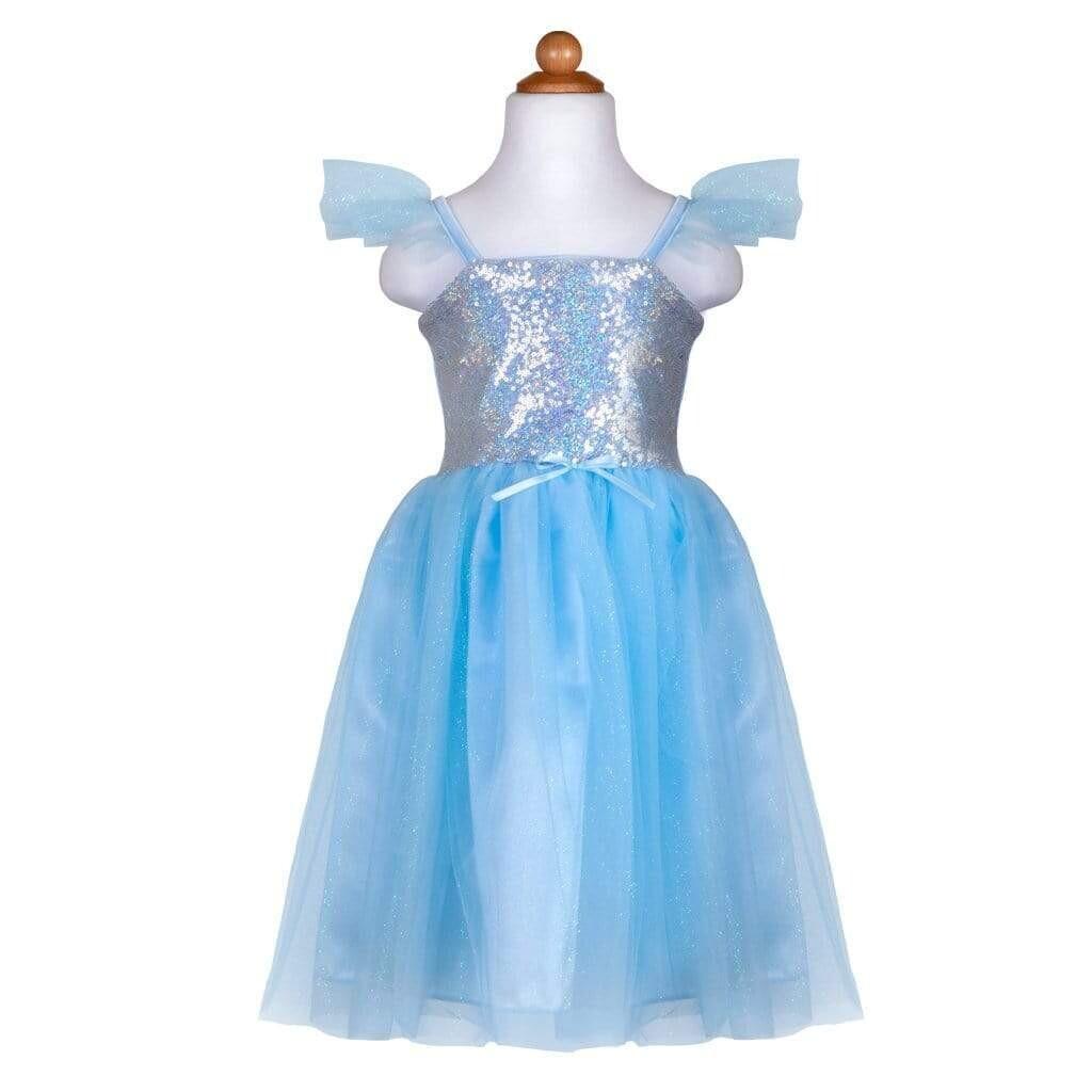 Sequins Princess Dress Blue 3-4 yrs