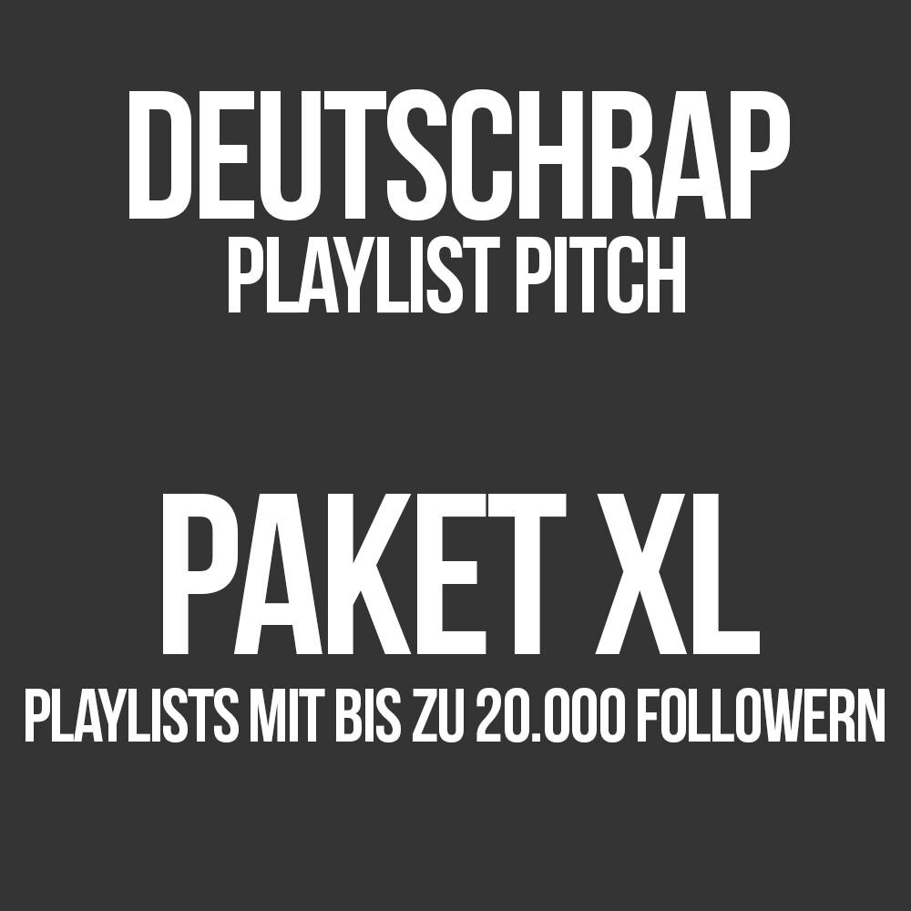 Deutschrap Playlist Pitching Paket XL