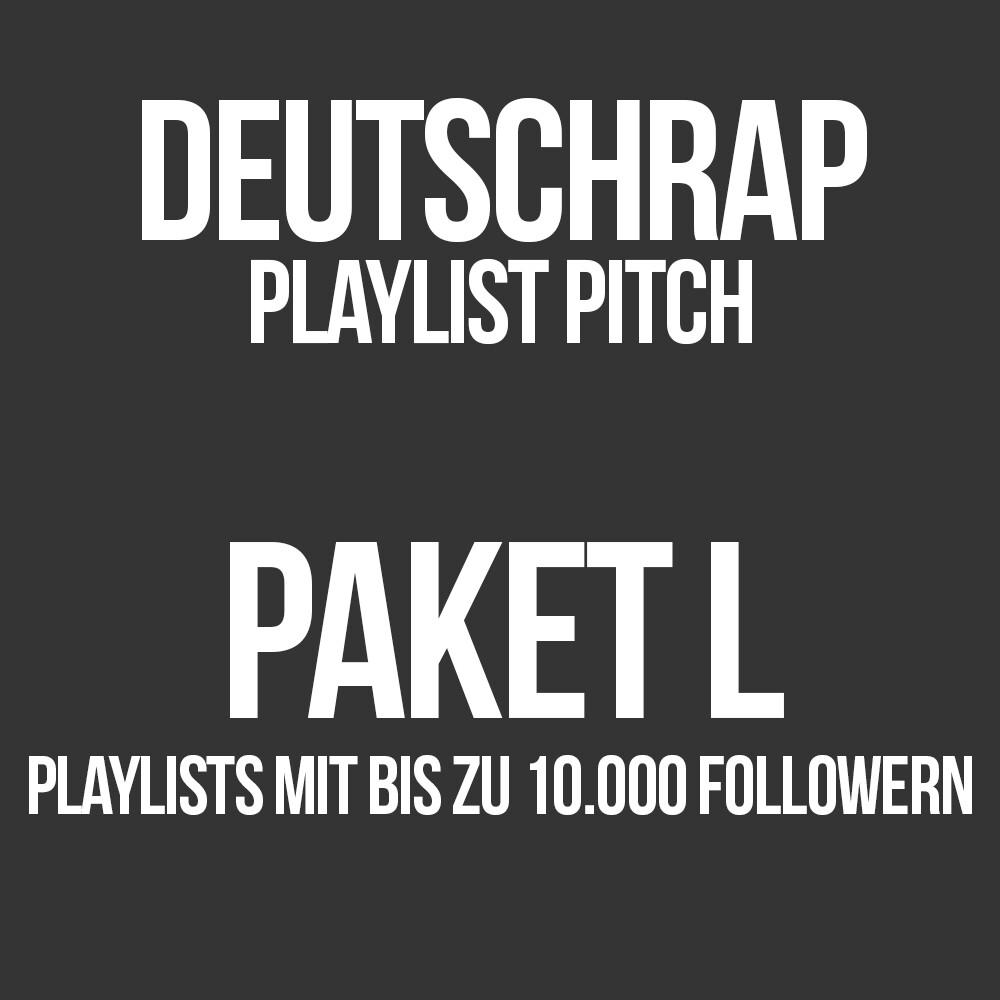 Deutschrap Playlist Pitching Paket L