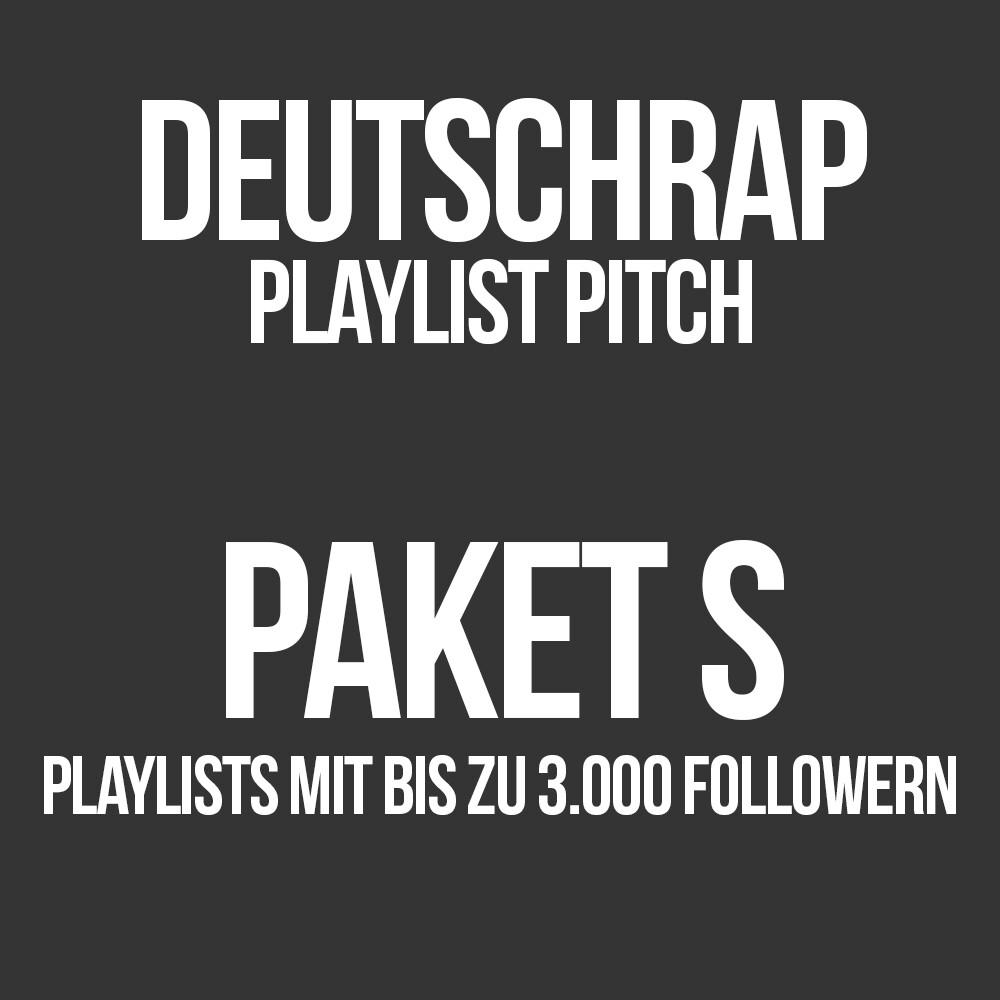 Deutschrap Playlist Pitching Paket S