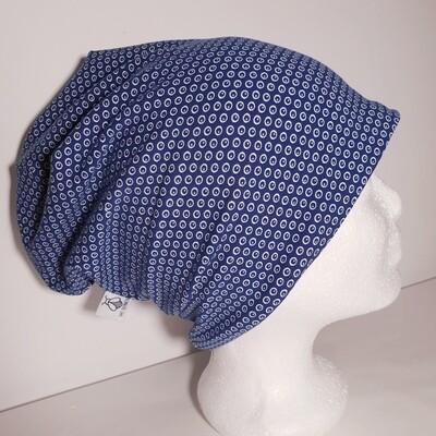 BEANIE I Jersey Mütze, Print Blue Dots