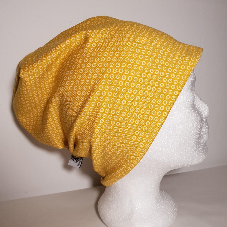 BEANIE I Jersey Mütze, Print Yellow Dots