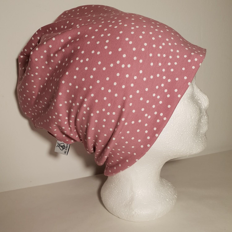 BEANIE I Jersey Mütze, Print Pink Dots