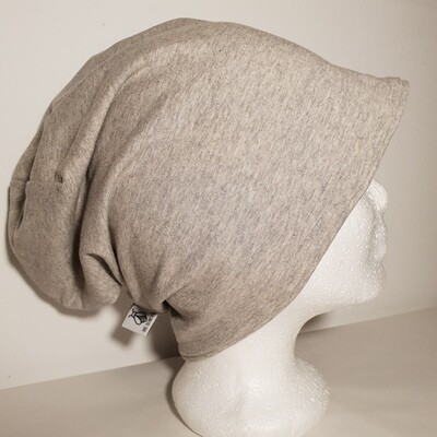 BEANIE I Jersey Mütze, Light Grey