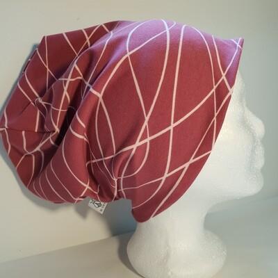 BEANIE I Jersey Mütze, Print Purple Lines