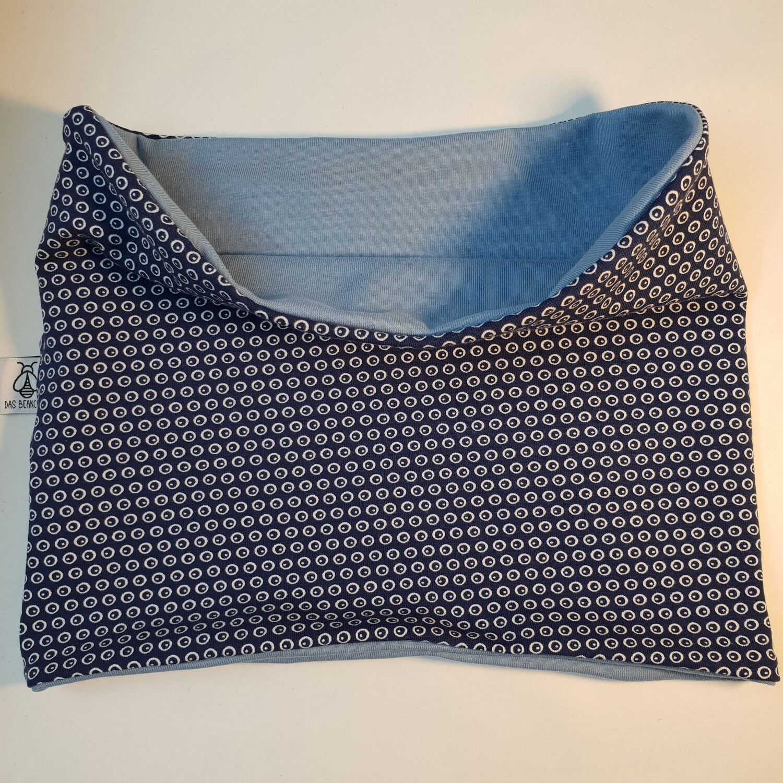 LOOP I Jersey Schal, Blue Dots