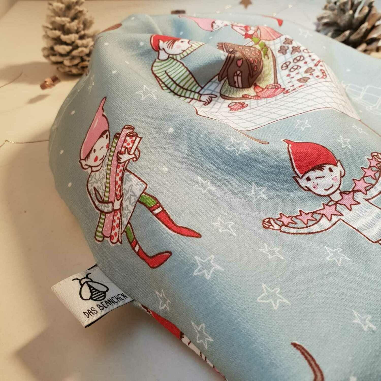 BEANIE I Jersey Mütze, Print Weihnachtswichtel