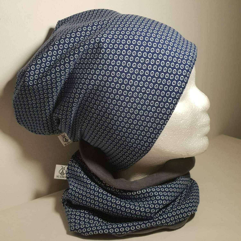 SET I Jersey Mütze, Print Blue Dots