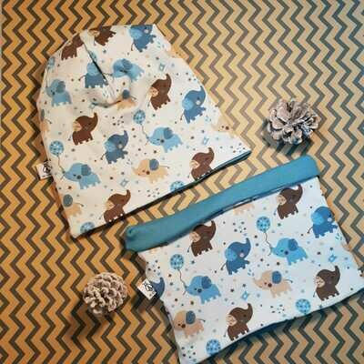 SET I Jersey Mütze, Print Babyelefant