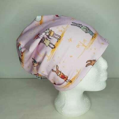 BEANIE I Jersey Mütze, Häschen rosa