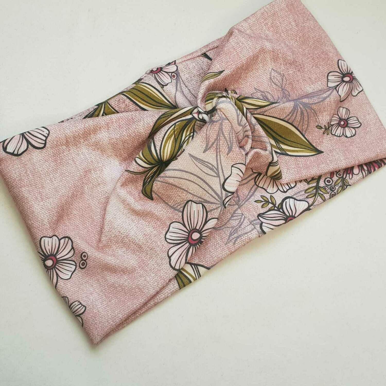 Turban Headband I Pink Flowers