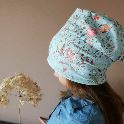 SET I Jersey Mütze und Schal, Frühlingsmädchen