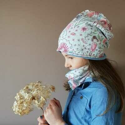 SET I Jersey Mütze und Schal, Flowergirl
