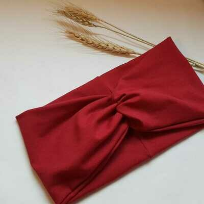 Turban Headband I Plain bordeaux