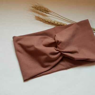 Turban Headband I Plain brown