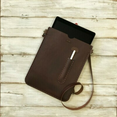 iPad Pro12.9インチ用の手縫いの革ケース