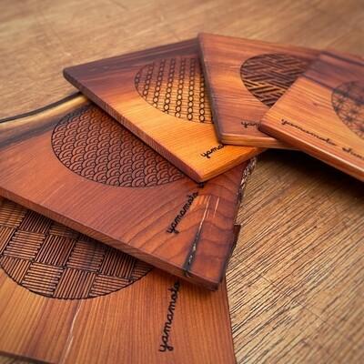 櫟の板のコースター(Coaster of yew )