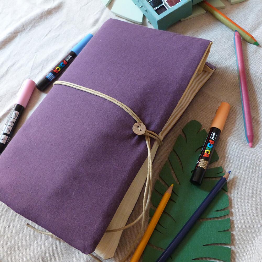 Pochette d'artiste A5 - Violet et Jaune