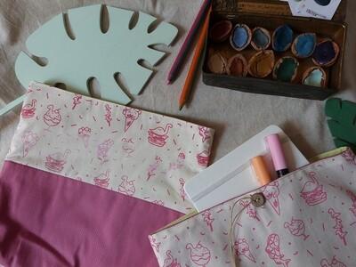 Pochette Sérigraphiée - Dinobouffe, rose