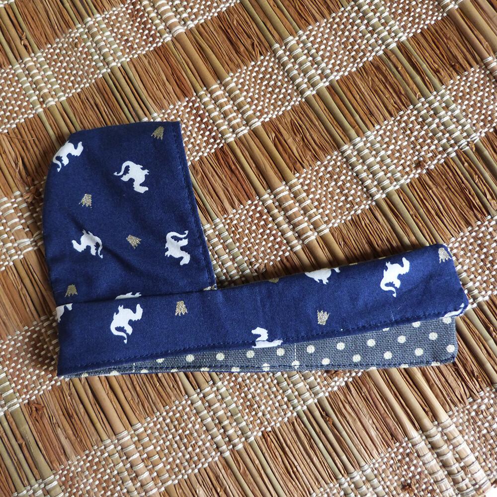 """Scoodie Dragon bleu foncé/dark blue, reversible - 5-6"""""""