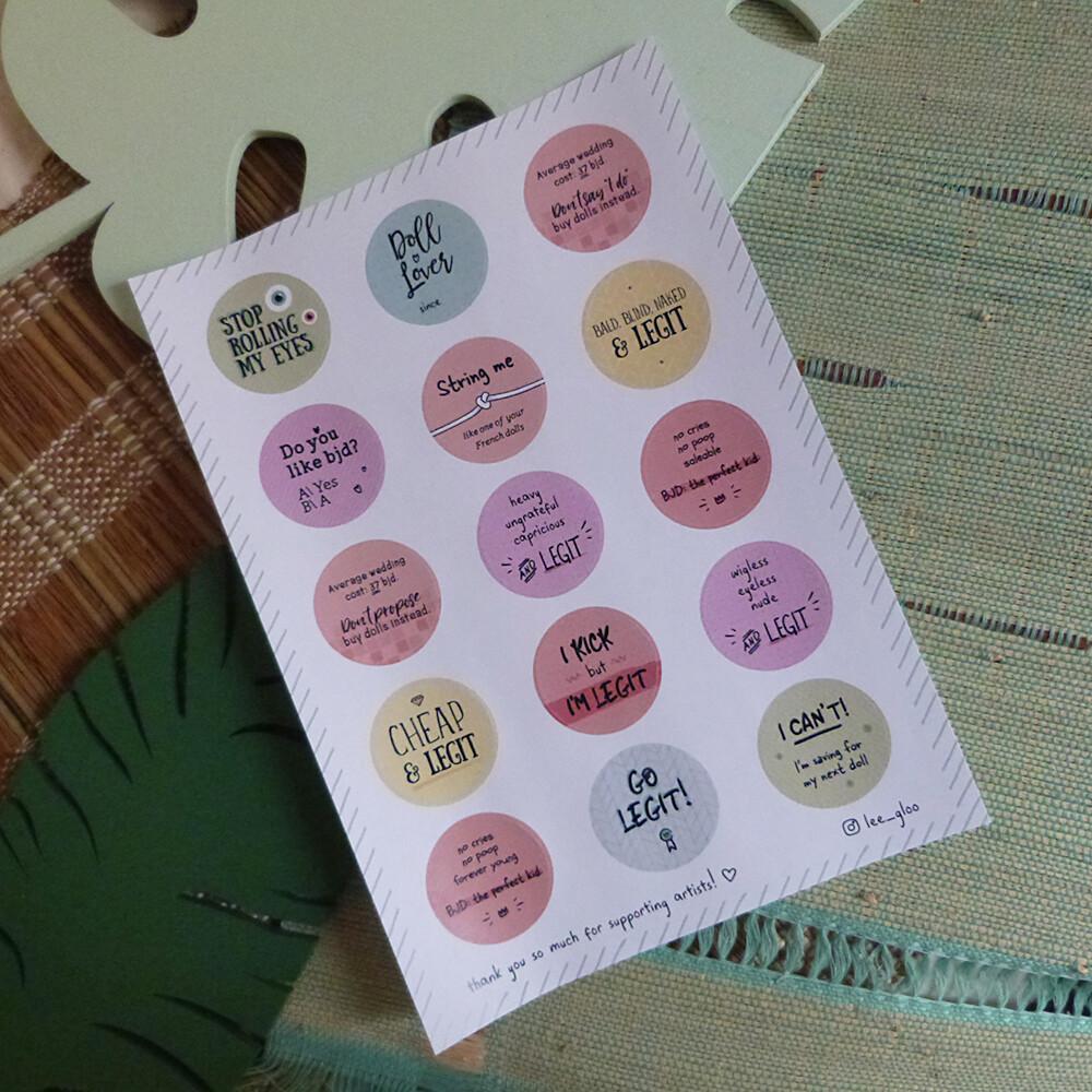 Sticker sheet A5 - BJD Dolls