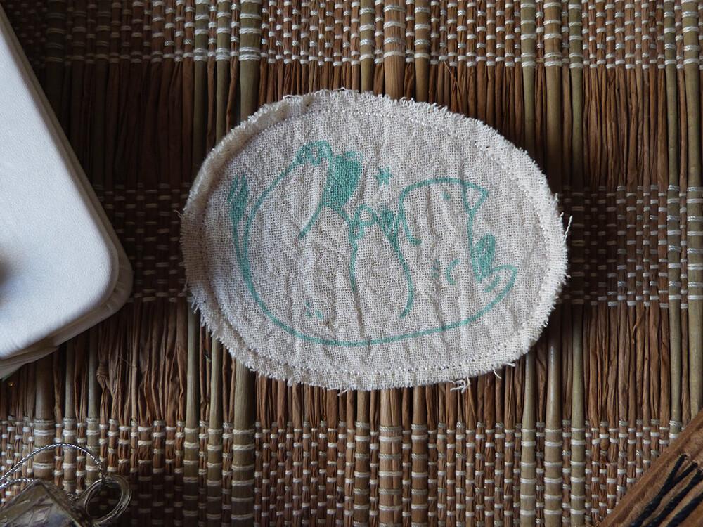 Broche artisanale - ani'cute Rhinocéros / Rhinoceros