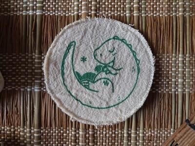 Broche artisanale - ani'cute Dinosaure / Dinosaur