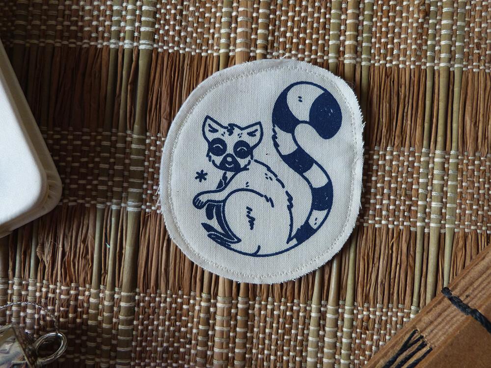 Broche artisanale - ani'cute Maki Catta / Ring-tailed lemur