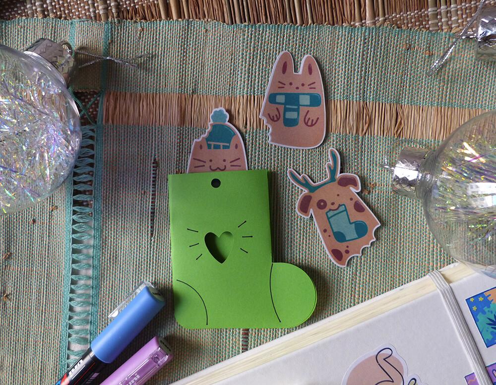 Sticker pack Noël 🎄 Animaux biscuits