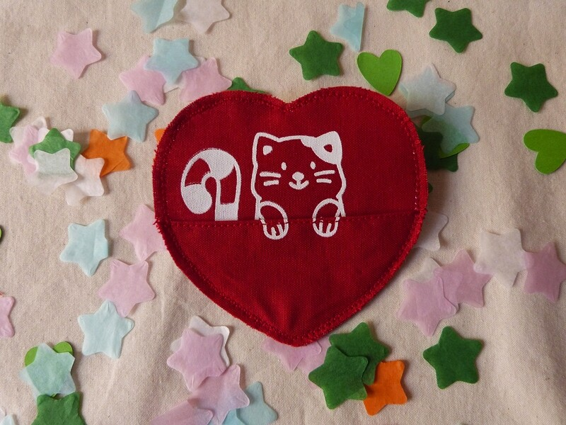 Broche à poche CHAT - Saint Valentin