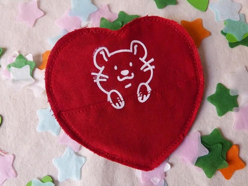 Broche à poche HAMSTER - Saint Valentin