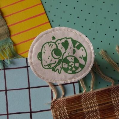 Broche artisanale - ani'cute Caméléon / Chameleon