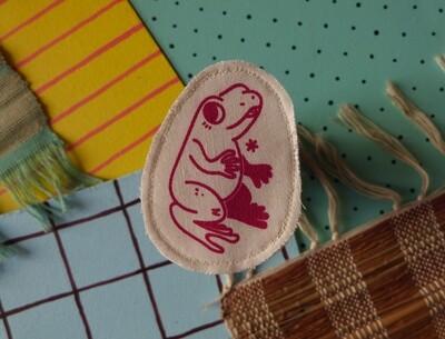 Broche artisanale - ani'cute Grenouille / Frog