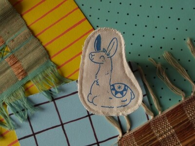 Broche artisanale - ani'cute Lama / Llama